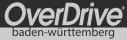 Logo von OverDrive Baden-Württemberg in schwarz-weiß